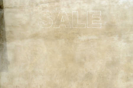 Sale sign in a store in London in United Kindgom, UK Stock Photo