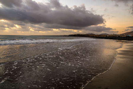 Shoreline in Lanzarote, Canary Islands, Spain