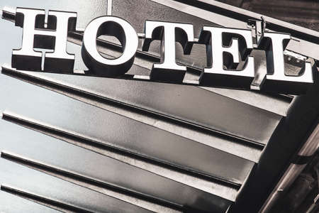 ideogram: Hotel symbol with copyspace in Spain Stock Photo