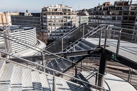 emergency stair: Emergency staircase in a building in Spain Europe
