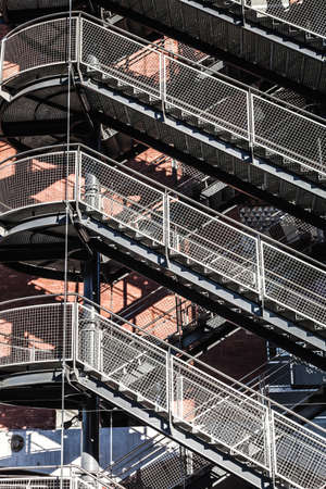 emergency stair: emergency staircase  in a building in Barcelona Catalonia Spain Stock Photo