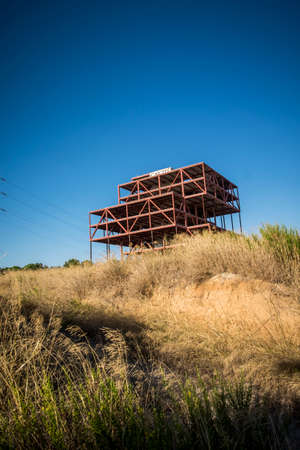 industry architecture: Abandoned offices construction in Sant Cugat del Valles Barcelona Spain