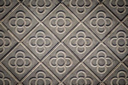 mistery: classic tile sidewalks of the city of Barcelona Catalonia Spain