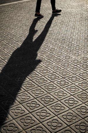 sidewalks: classic tile sidewalks of the city of Barcelona Catalonia Spain