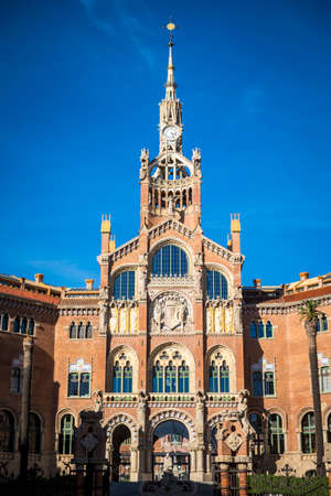 St. Paul hospital a modernism architecture in Barcelona Catalonia Spain Editorial