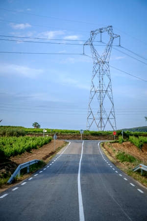 ideogram: Empty road in the countryside of Barcelona Catalonia Spain Stock Photo