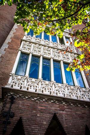 View of Casa de les Punxes by Josep Puig i Cadafalch in Barcelona Catalonia Spain