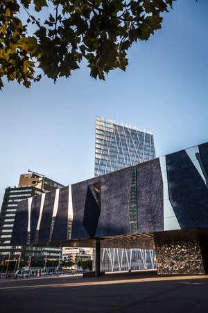 jacques: Barcelona, Spain - November 28, 2011: The Forum building by Jacques Herzog y Pierre de Meuron architects Editorial