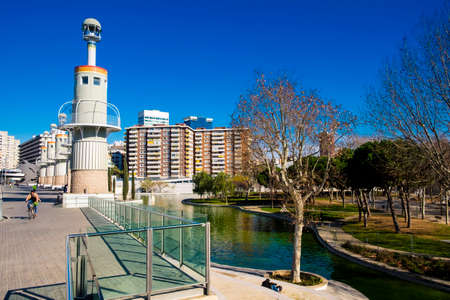 industrial park: Barcelona, Spain - February 14, 2016: Spain Industrial park located near Sants train station at Barcelona, Spain