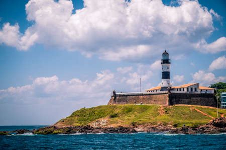 Barra Lighthouse (Farol da Barra) in Salvador, Bahia, Brazil Stock Photo