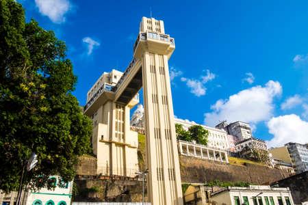 elevador: Elevador Lacerda elevator is one of the most famous landmarks in Salvador de Bahia Brazil Stock Photo