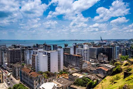 elevador: Panoramic of Salvador do Bahia from Elevador Lacerda elevator in Pelourinho district Brazil