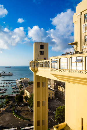 Elevador Lacerda elevator is one of the most famous landmarks in Salvador de Bahia Brazil Stock Photo
