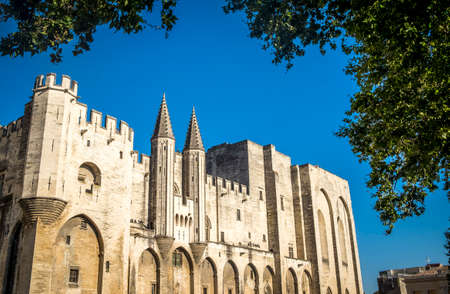 metropolis image: Exterior of Palais des Papes, UNESCO World Heritage Site, and church, Avignon, Vaucluse, Provence, France, Europe
