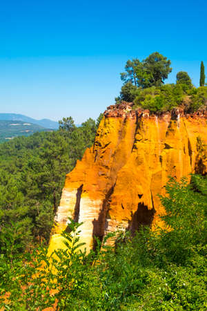 PROVENCE: Ochre Rocks or Carriere dOcre at Roussillon