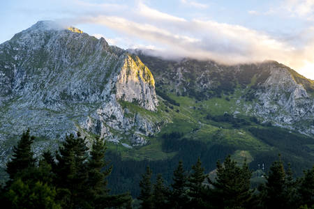 Landscape in Urkiola National Park at Basque Country Spain Europe Stock Photo