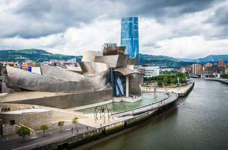 Bilbao, Spain - July 25, 2016: Guggenheim Museum by the architect Frank Gehry Editorial