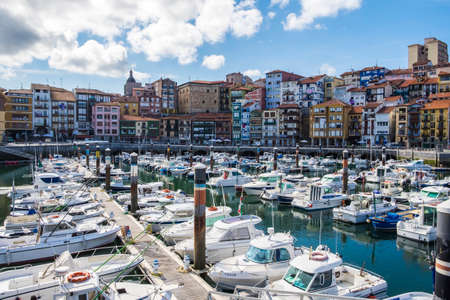 basque country: Bermeo, Basque Country, Spain - July 26, 2016: fisherman village of Bermeo in the coast of Basque Country Europe Editorial