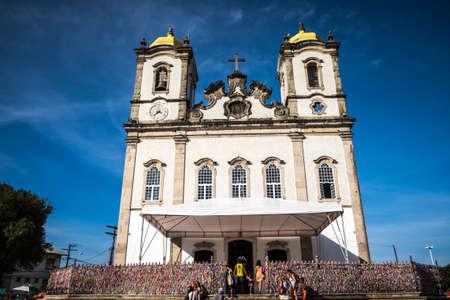 stereotypically: Salvador, Brazil - October 26, 2016: Igreja Nosso Senhor do Bonfim church, Salvador (Salvador de Bahia), Bahia, Brazil, South America