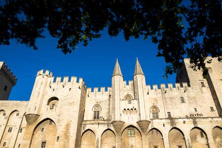 palais: Exterior of Palais des Papes, UNESCO World Heritage Site, and church, Avignon, Vaucluse, Provence, France, Europe
