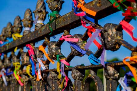 Ribbons in Igreja Nosso Senhor do Bonfim da Bahia church in Salvador Bahia Brazil