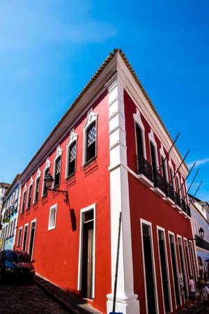 stereotypically: Colonial buildings in  Pelourinho, Salvador (Salvador de Bahia), Bahia, Brazil, South America Stock Photo