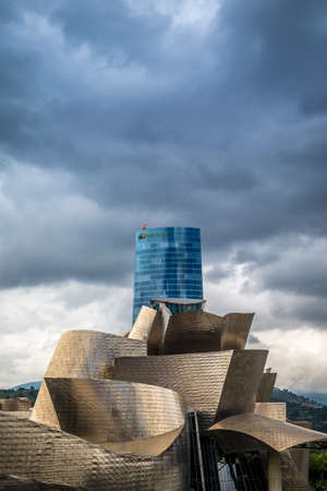 oudoor: Bilbao, Spain - July 25, 2016: one of the most important museum of Spain is the Guggenheim Museum of Bilbao