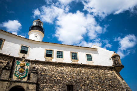 Salvador, Brazil - October 27, 2016: Farol da Barra is now the Nautical Museum of Bahia in Salvador Brazil Editorial