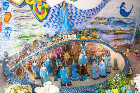 brazilian ethnicity: Salvador, Brazil - October 27, 2016: temple of the goddess yemanja, salvador, bahia, brazil, south america