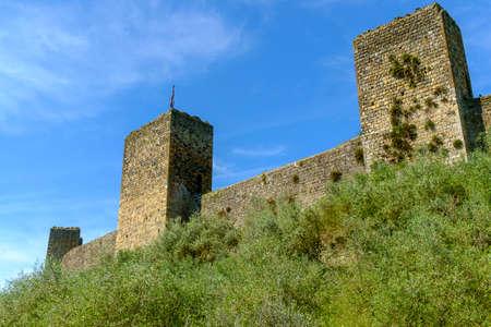 The medieval walls of Monteriggioni, Tuscany, Italy