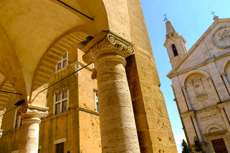 cathedral of Pienza, Tuscany, Italy