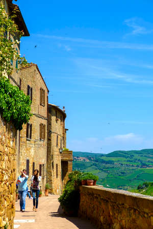 pienza: Pienza, Italy - May 9, 2014: Village of Pienza in the hearth of Tuscany Italy Editorial