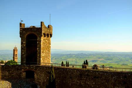 fortezza: Fortezza di Montalcino Castle in the Tuscany Italy