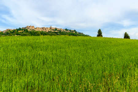 Scenery near to Montepulciano, Tuscany. The area is part of the Val dOrcia Stock Photo