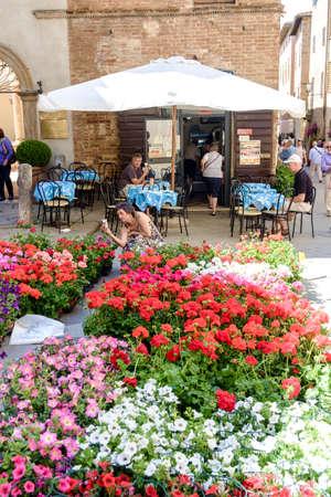 May 10, 2014 - Pienza, Italy: Piazza Pio II in Pienza Tuscany Italy