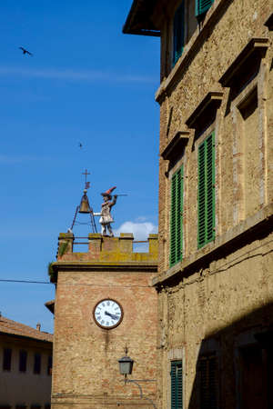 bell tower, montepulciano, province of siena, tuscany, italy Europe
