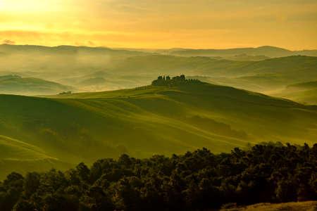 pienza: Val dOrcia in Italys Tuscany province Europe