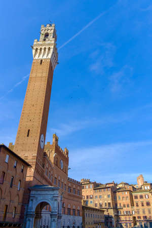 Piazza del Campo in Siena Italy Europe