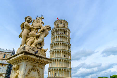 The Leaning Tower of Pisa, Pisa, Tuscany, Italy, Europe Stock Photo