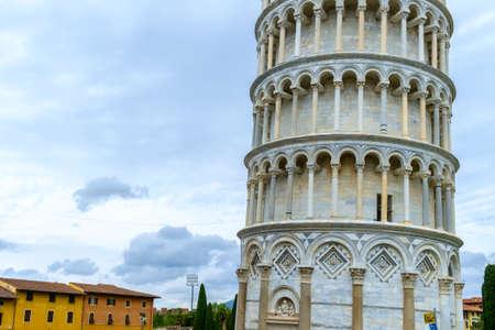 The Leaning Tower of Pisa, Pisa, Tuscany, Italy, Europe Stock Photo