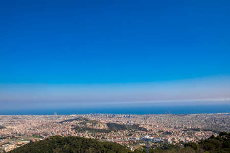 Panoramic view of the Catalan capital from Tibidabo mountain Stock Photo