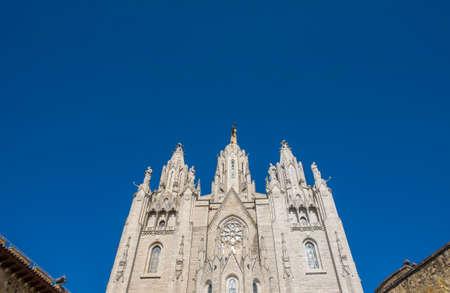Expiatory Church of the Sacred Heart on the Tibidabo, Barcelona, Catalonia, Spain Stock Photo