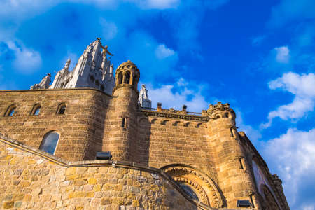 Expiatory Church of the Sacred Heart on the Tibidabo, Barcelona, Catalonia, Spain Stock Photo
