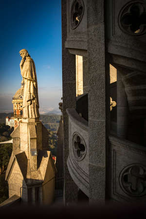 Expiatory Church of the Sacred Heart on the Tibidabo, Barcelona, Catalonia, Spain Editorial
