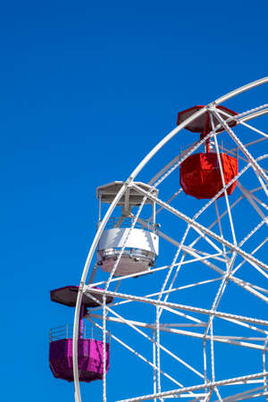 Barcelona, Spain - april 6, 2016: Amusement Park, Tibidabo, Barcelona, Spain.