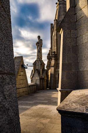tibidabo: Expiatory Church of the Sacred Heart on the Tibidabo, Barcelona, Catalonia, Spain Stock Photo