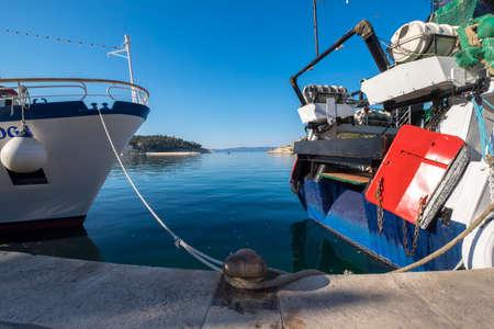 dalmatia: Port of Makarska in  Dalmatia Croatia Europe Stock Photo