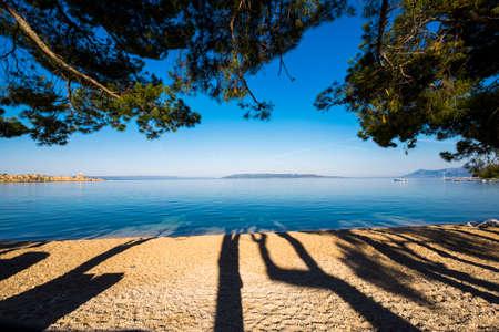 dalmatia: Beach in Makarska Rivera in Croatia Europe Stock Photo