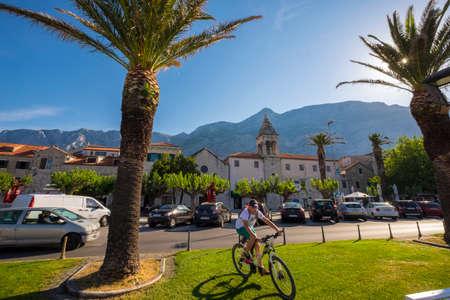 dalmatia: Makarska, Croatia - May 30, 2017: Village of Makarska in Dalmatia Coast Croatia Europe