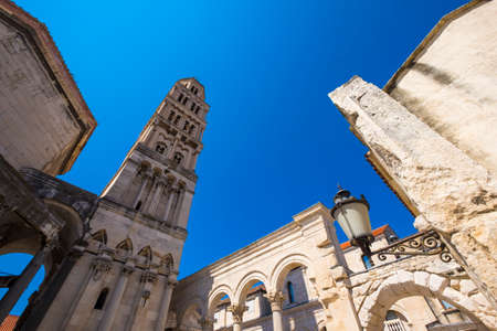 Cathedral of St. Domnius and bell tower, Split, Dalmatia, Croatia Stock Photo